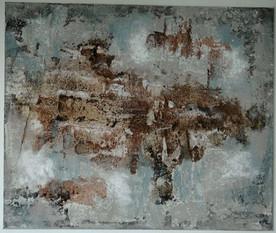 Change | 2013 | Mischtechnik mit Gipshaftputz, Beize und Marmormehl | 50x60cm