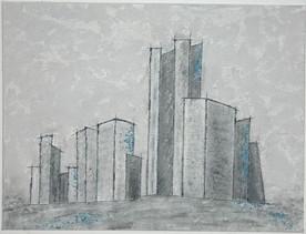 o.T.   |   2012 |  Spachteltechnik in Acryl und Kohle | 60x80cm