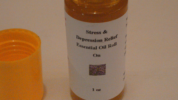 Stress & Depression Relief Roll On Oil Blend 1 oz