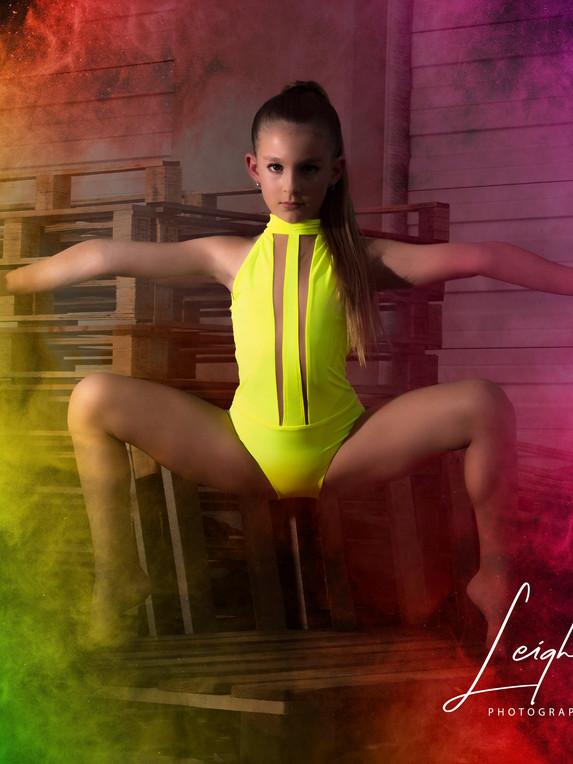 Dancer With Rainbow Smoke