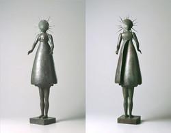 Donna conchiglia, 24x24x88 cm, 2001