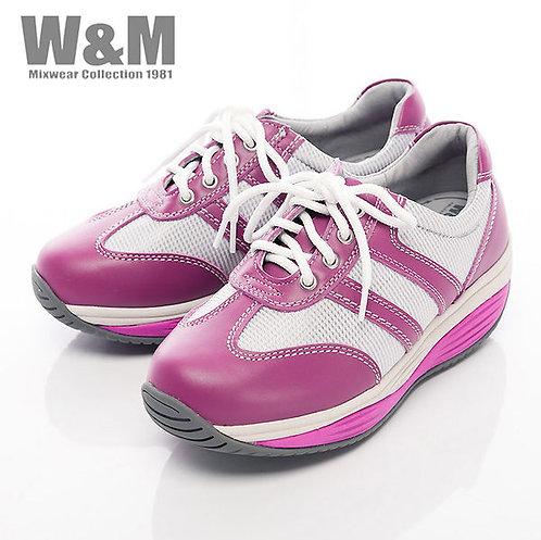 米蘭皮鞋W&M 2014 FIT 城市健走族透氣健塑鞋綁帶心型底女鞋-桃紅(另有白)