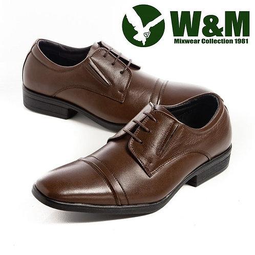 【W&M】 紳仕雅痞綁帶皮鞋男鞋 咖