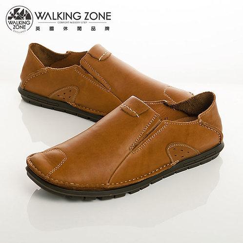 WALKING ZONE 英倫真皮自然風格休閒鞋男鞋-棕(另有咖、棕)