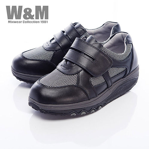 米蘭皮鞋W&M 2014 FIT 城市健走族塑型美麗曲線健塑鞋魔鬼粘女鞋-黑(另有粉)