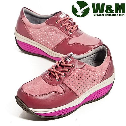 W&M FIT 城市健走族透氣健塑鞋貼鑽綁帶心型底女鞋-粉(另有藍)