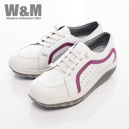 米蘭皮鞋W&M 2014 FIT 城市健走族塑型透氣健塑鞋綁帶女鞋-白(另有藍、桃紅)