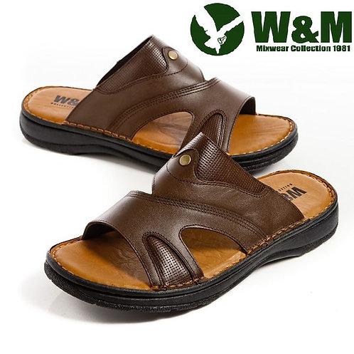 【W&M】 透氣洞洞厚底軟墊拖鞋男鞋 咖(另有黑)