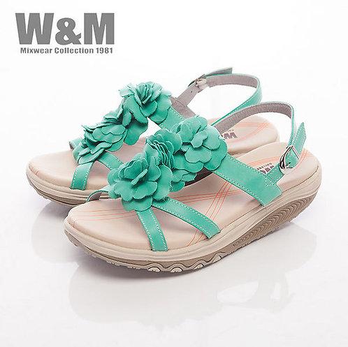 米蘭皮鞋W&M 2014 FIT 三花造型健走族健塑鞋扣環女鞋-綠(另有桃粉)
