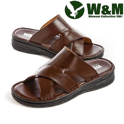 【W&M】 厚底軟墊拖鞋男鞋 咖(另有鐵灰)