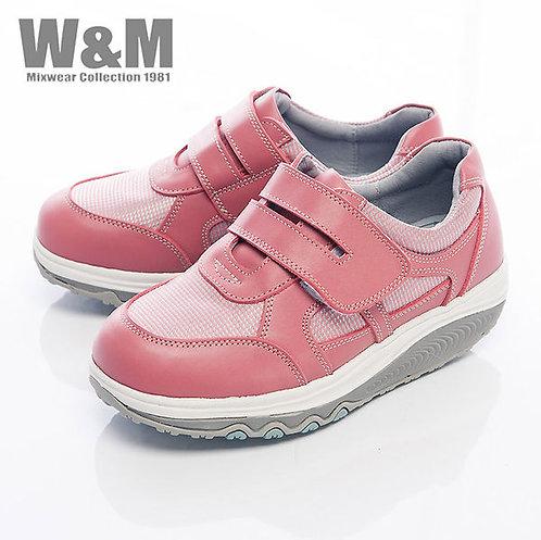 米蘭皮鞋W&M 2014 FIT 城市健走族塑型美麗曲線健塑鞋魔鬼粘女鞋-粉(另有黑)