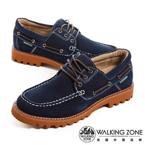 米蘭~WALKING ZONE 真牛皮EVA超輕量大底帆船鞋-男鞋-藍(另有咖)