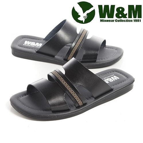 【W&M】 王字形中國結造型拖鞋男鞋 黑(另有咖)