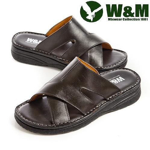 【W&M】 厚底軟墊拖鞋男鞋 鐵灰(另有咖)