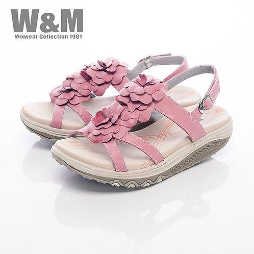 米蘭皮鞋W&M 2014 FIT 三花造型健走族健塑鞋扣環女鞋-桃粉(另有綠)