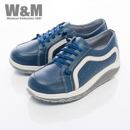米蘭皮鞋W&M 2014 FIT 城市健走族塑型透氣健塑鞋綁帶女鞋-藍(另有白、桃紅)