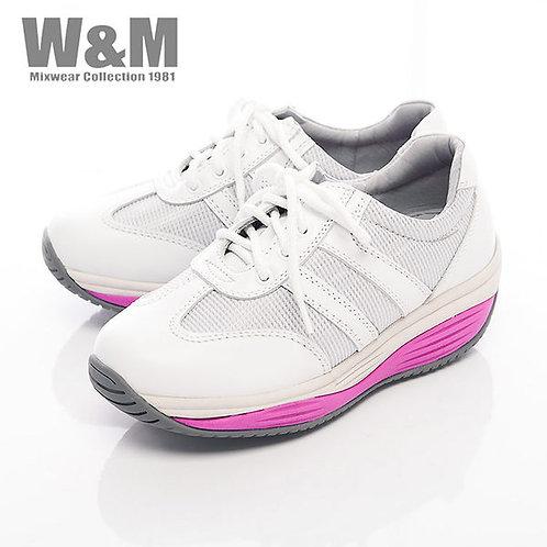 米蘭皮鞋W&M 2014 FIT 城市健走族透氣健塑鞋綁帶心型底女鞋-白(另有桃紅)