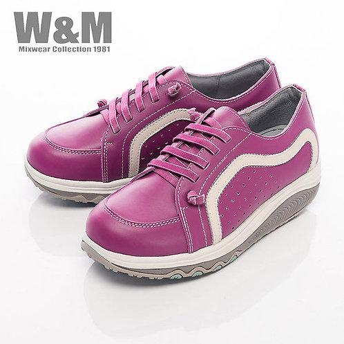 米蘭皮鞋W&M 2014 FIT 城市健走族塑型透氣健塑鞋綁帶女鞋-桃紅(另有藍、白)