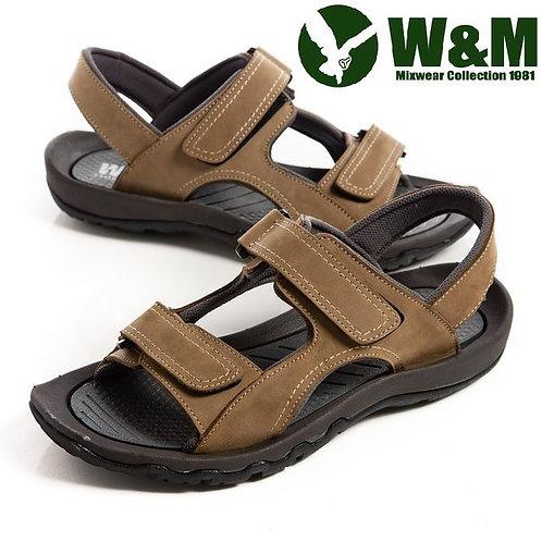 【W&M】魔鬼氈氣墊厚底涼鞋 棕(另有綠)