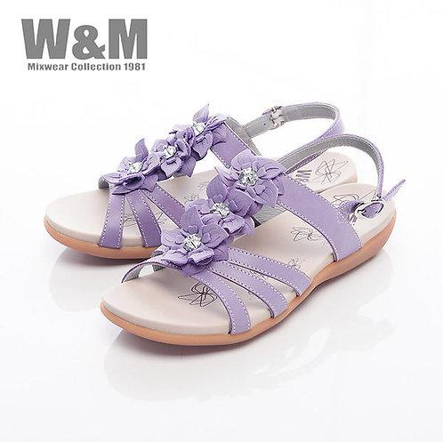 米蘭皮鞋W&M 美麗三花扣環式涼鞋女鞋-紫(另有綠)