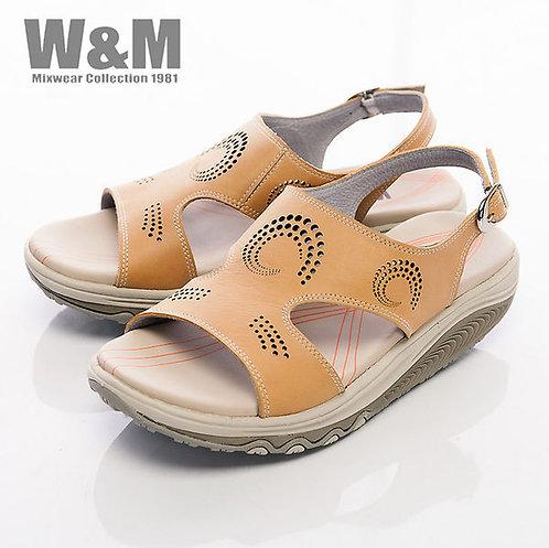 米蘭皮鞋W&M 2014 FIT 螺旋洞洞造型健走族健塑鞋扣環女鞋-黃(另有藍)