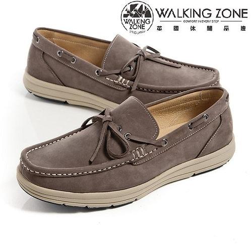 WALKING ZONE 綁帶帆船鞋休閒男鞋 灰 (另有藍)