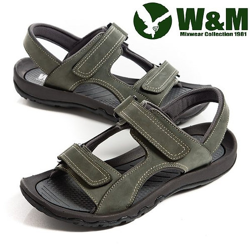 【W&M】魔鬼氈氣墊厚底涼鞋 綠(另有棕)