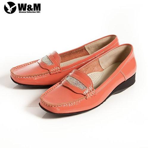 米蘭皮鞋 2014春夏新品 W&M 亮漆皮耀眼繽紛透氣軟墊休閒鞋 粉(另有黑)