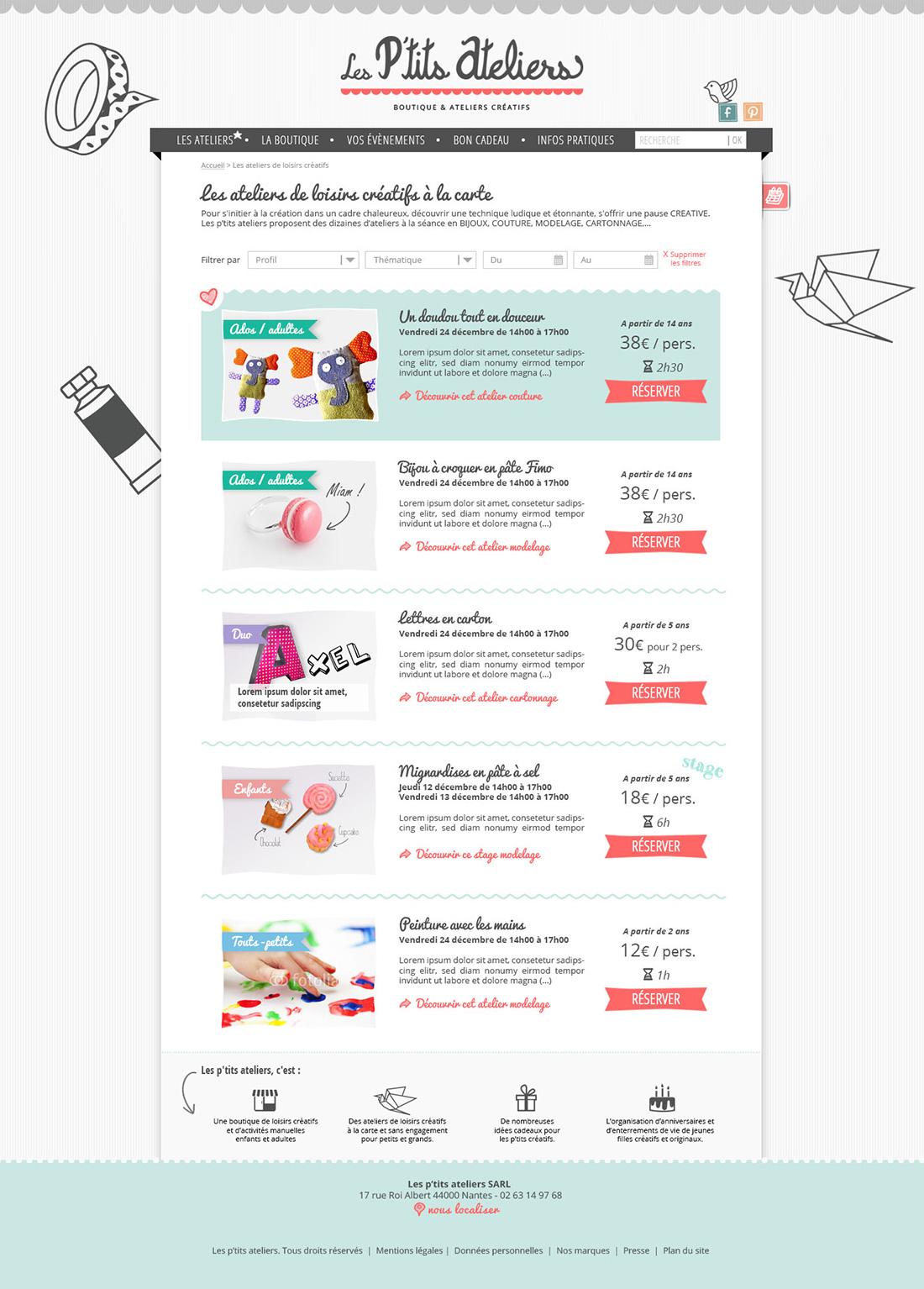 Webdesign site internet page produit