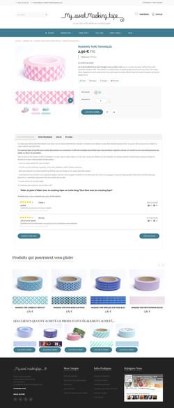 Site internet - Page produit