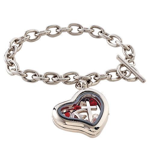 Avalon Gallery™ Confirmation Locket Bracelet