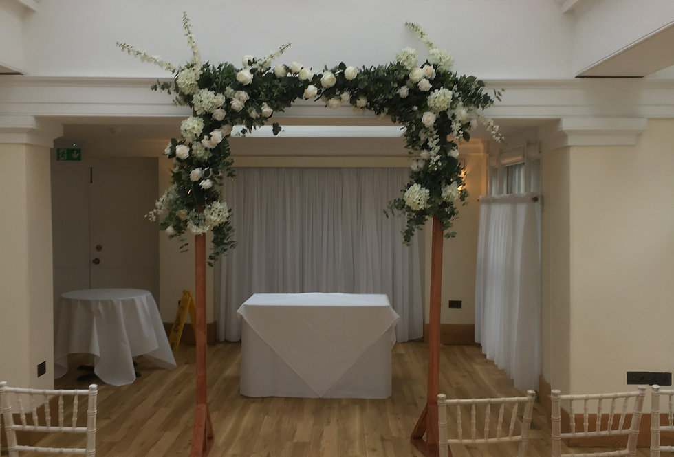Rustic Wooden Arch - double garland