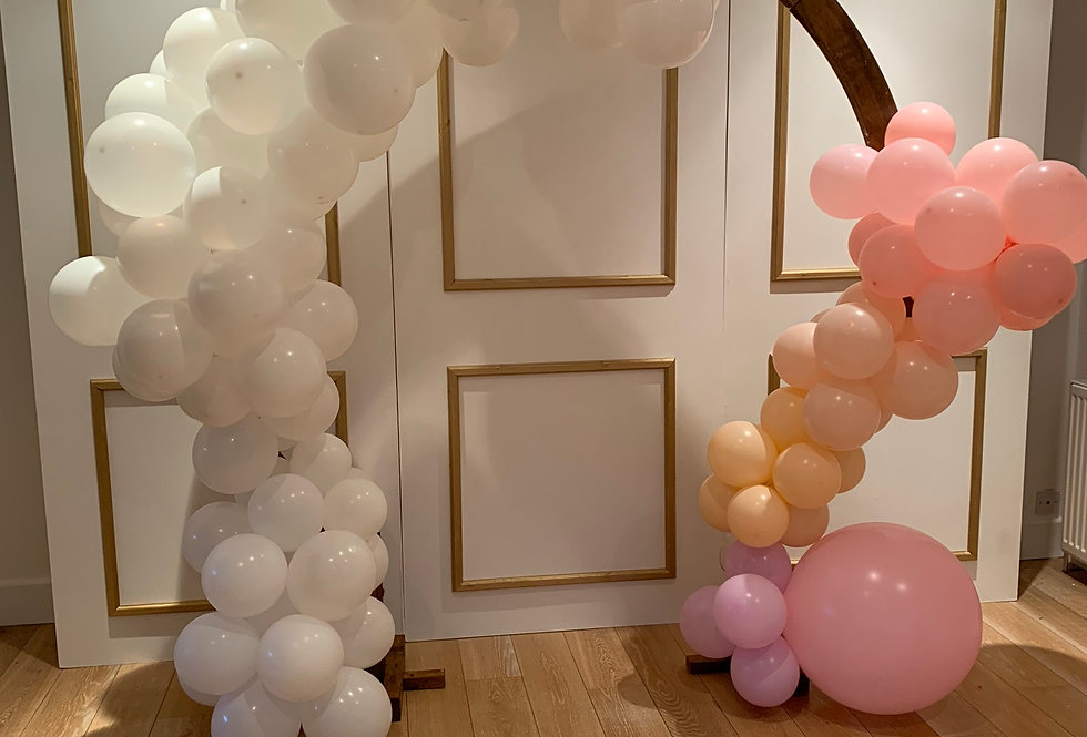 Moon Arch with Double Sided Balloon Garland
