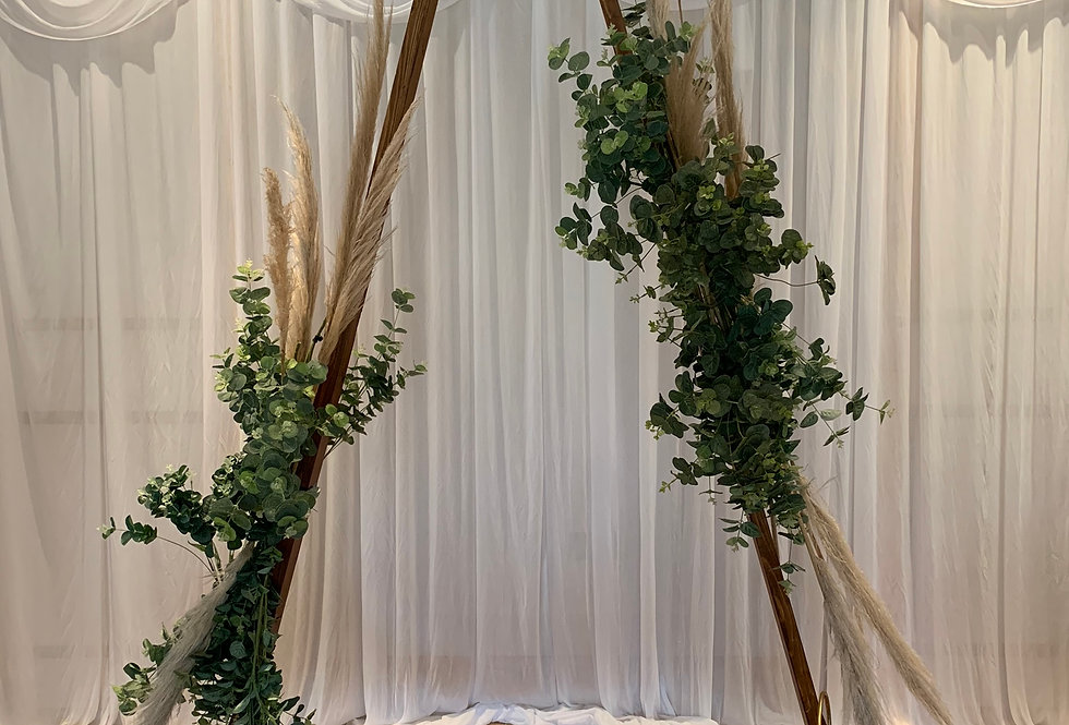 Triangle Arch - Double Greenery Garlands