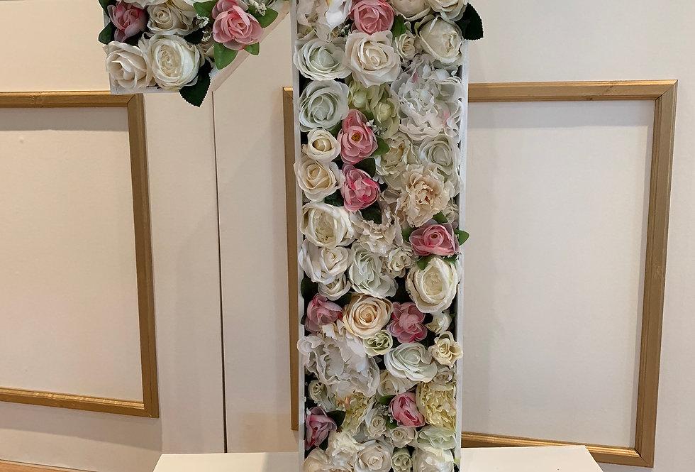 Pink & Ivory Floral Number