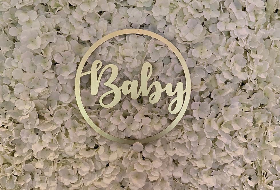 Round Baby Sign