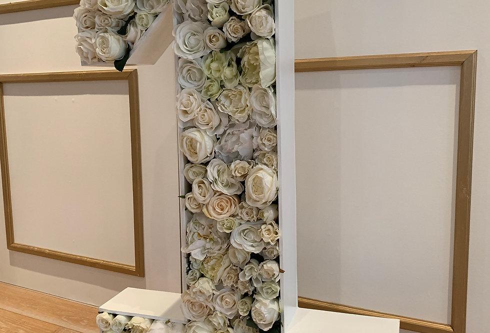 Ivory Floral Number