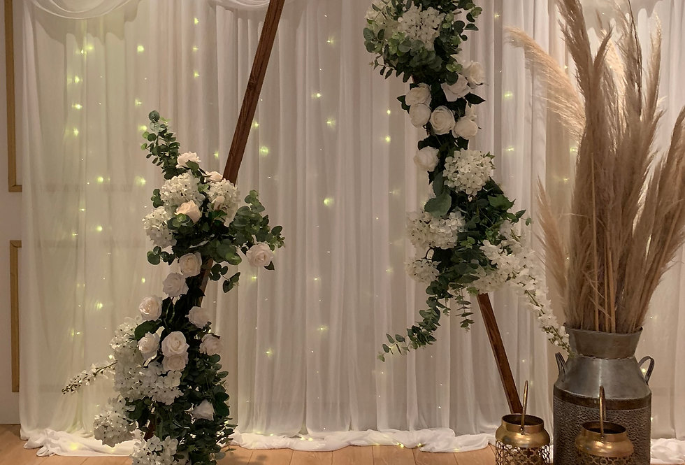 Triangle Arch - Double Floral Garlands
