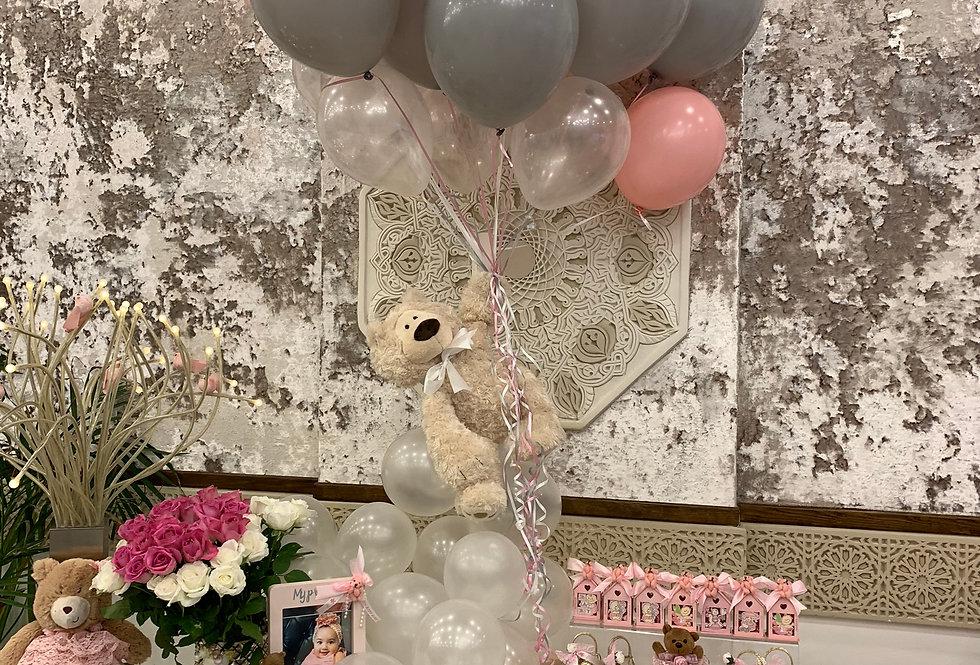 Floating Teddy Bear Balloon Prop
