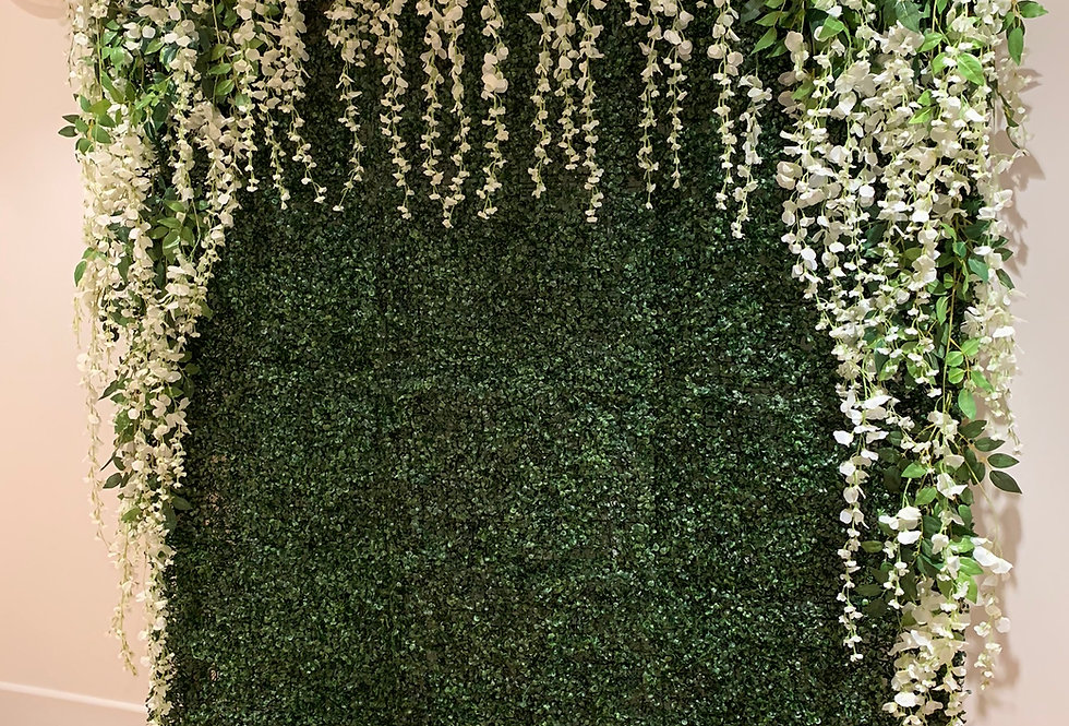Greenery Wall - Sloping Wisteria Topper