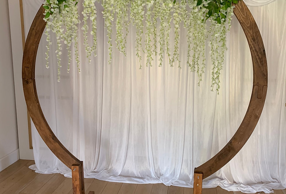 Moon Arch with Wisteria Topper