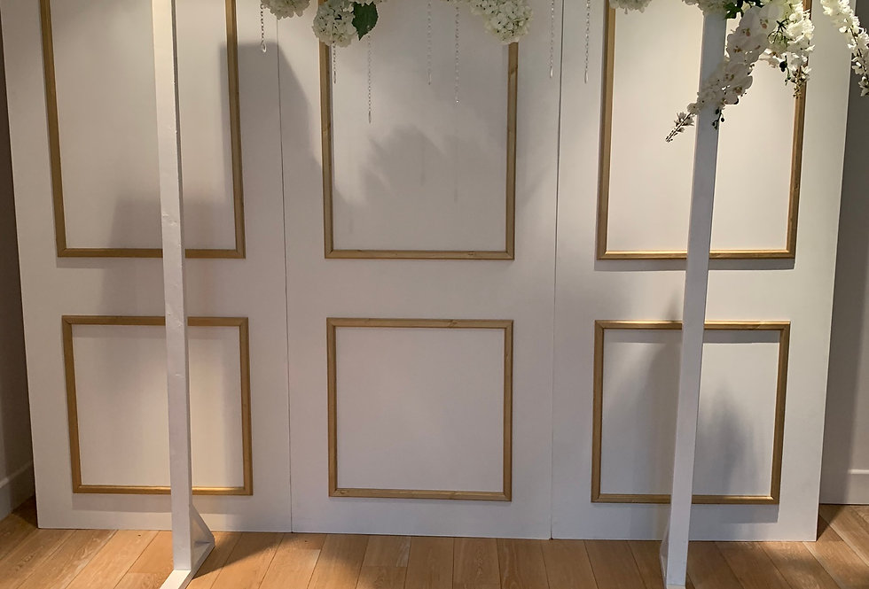 Classic White Arch - single floral garland