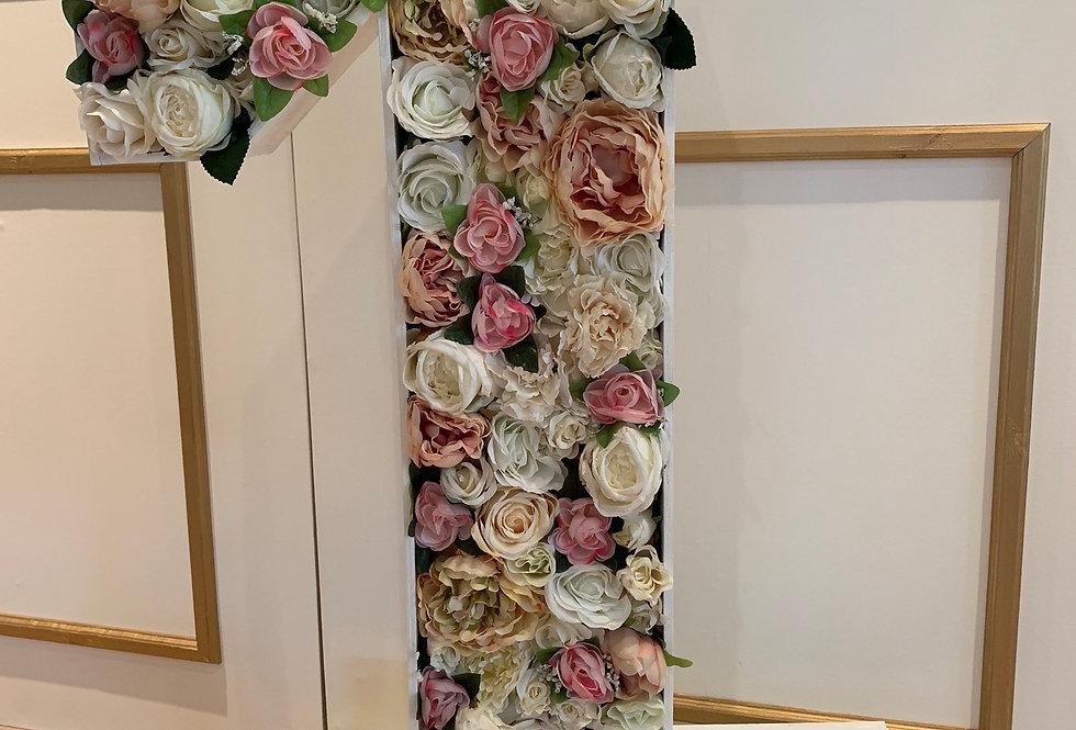 Pink & Blush Floral Number