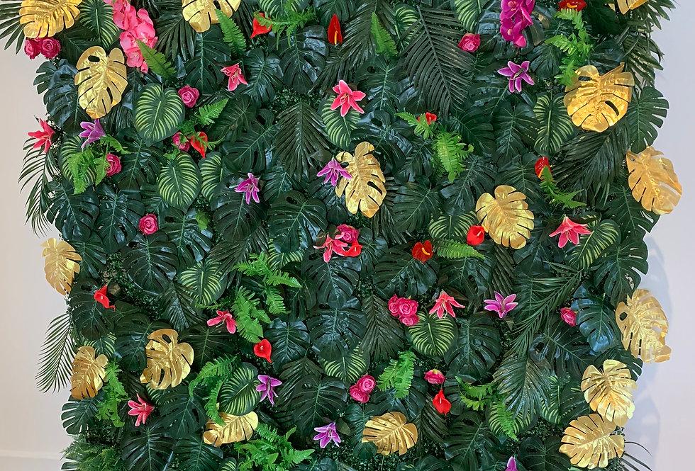 Tropical Foliage Wall - Gold
