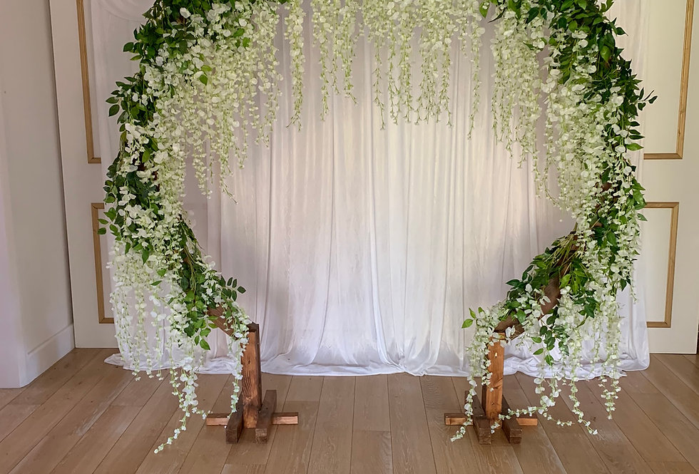 Moon Arch with Full Wisteria Garland
