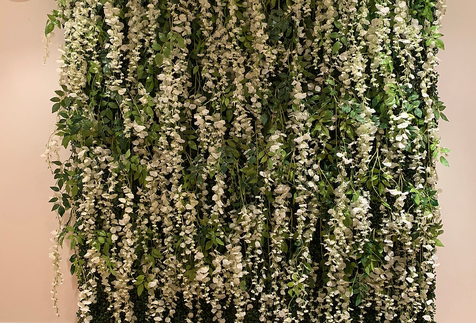 Greenery Wall - Full Wall Wisteria with Rose Topper
