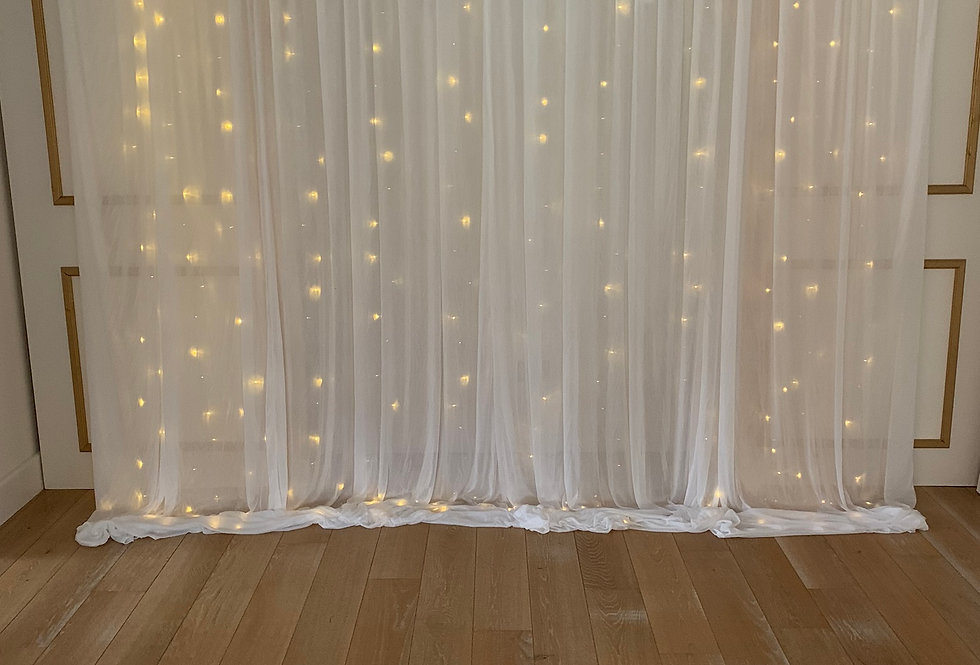 Fabric Drapes with Fairy Lights
