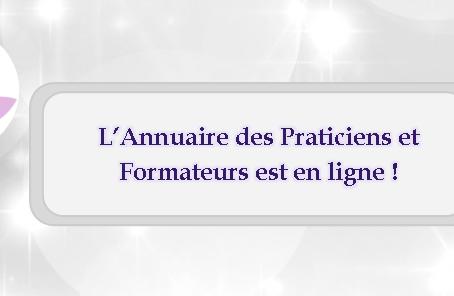 L'Annuaire des Praticiens et Formateurs est en ligne !!!