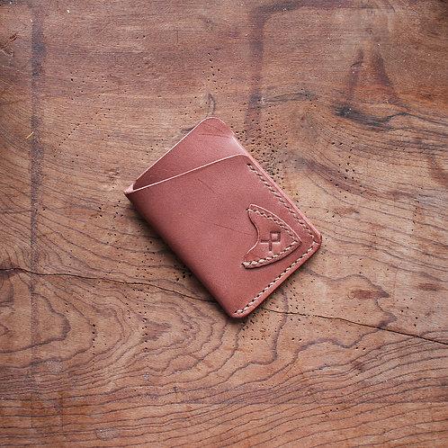 Carteira de couro  Slimwallet Novo Marrom com porta palhetas