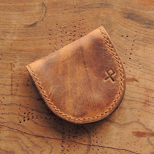 Moedeira em couro Pinhão